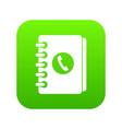 address book icon digital green vector image vector image