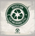 alternative flat recycle sign stamp vector image vector image