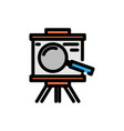 analysis filled line icon vector image
