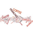 appeal kiosk coffee franchise text vector image vector image