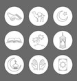 arabic linear icons set vector image vector image