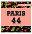 autumn t-shirt floral paris graphic fall travel vector image