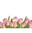 Beautiful realistic tulip bouquet EPS 10 vector image vector image