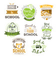 big set of welcome back to school labels and logo vector image