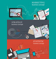 business infographic backgrounds set vector image vector image