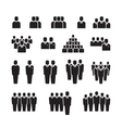 Business team silhouette people employee group vector image vector image