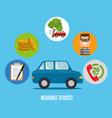 car insurance service concept vector image