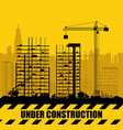Construction site with buildings and cranes