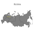 Contour map of Russia 01 vector image