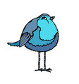 cute adorable blue bird isolated on a white vector image vector image