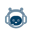 cute smiling funny robot chat bot face vector image