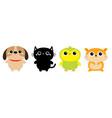 dog black cat hamster parrot bird toy icon set vector image