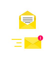 email envelope concept digital mail yellow vector image vector image