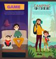 fatherhood vertical banners vector image