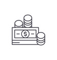 financial contributions line icon concept vector image