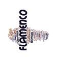 flamenco in costa tropical andalucia text vector image vector image
