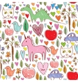 Girls birthday pink seamless pattern with animals vector image vector image