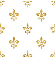 Golden fleur-de-lis seamless pattern white 3 vector image