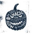 halloween letering in pumpkin silhouette vector image vector image