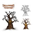 Halloween monsters spooky tree EPS10 file vector image vector image
