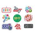 happy new year 2017 text design creative vector image
