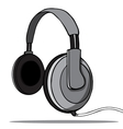 Headphones on a white background vector image vector image