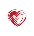 heart love icon design template vector image