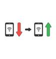 icon concept wifi symbol inside smartphone vector image