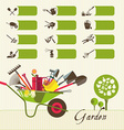 Icons on the theme of organic farming Symbols vector image vector image