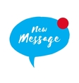 Incoming message icon new message speech bubble vector image