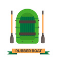 inflatable boat rafting boat icon isolated on vector image