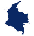 Map colombia in blue colour