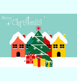 merry christmas logo vector image vector image