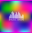 music shop logo vector image