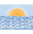 ocean background vector image vector image