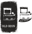 old iron vector image