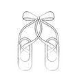 Pair pointe ballet shoes slippers icon