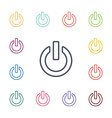power on flat icons set vector image