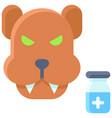 rabies vaccine icon vaccine development related vector image