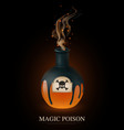 realistic poison composition vector image vector image