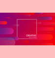 red creative solutions background with geometric vector image vector image
