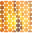 Retro orange pattern of geometric shapes vector image