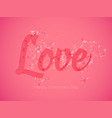 romantic light red valentines day greeting card vector image