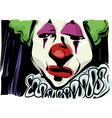 sad clown drawing vector image vector image