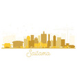saitama japan city skyline silhouette with golden vector image vector image