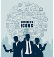 Silhouette people for Business concept vector image vector image