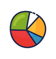 simple doodle a pie chart cartoon hand draw vector image vector image