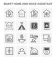 smart homes icon vector image