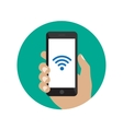 Smartphone with Wi-Fi icon vector image vector image