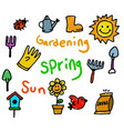 spring theme kids doodle color vector image